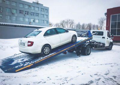 Перевозка легкового авто (погрузка на платформу)