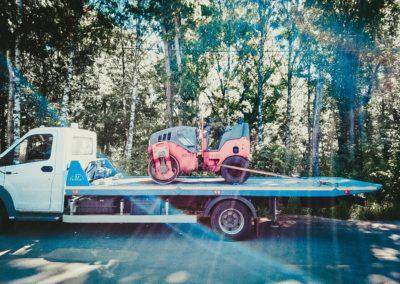 Перевозка дорожного катка