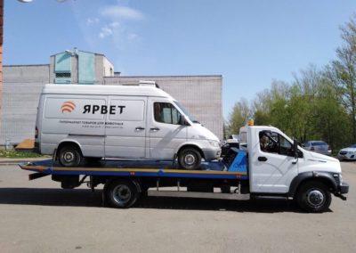 Перевозка микроавтобусов на эвакуаторе